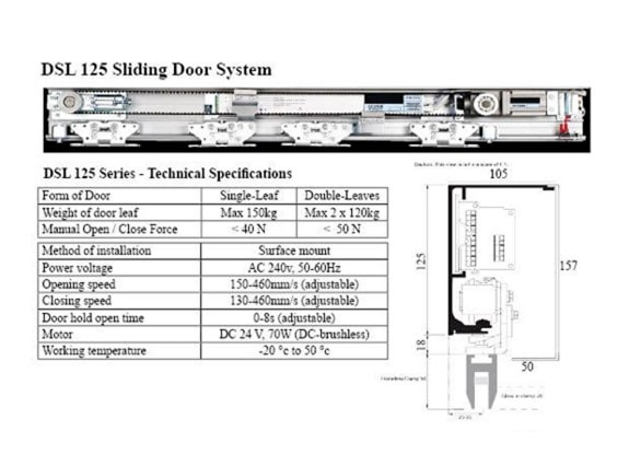 Dsl 125 Sliding Door System