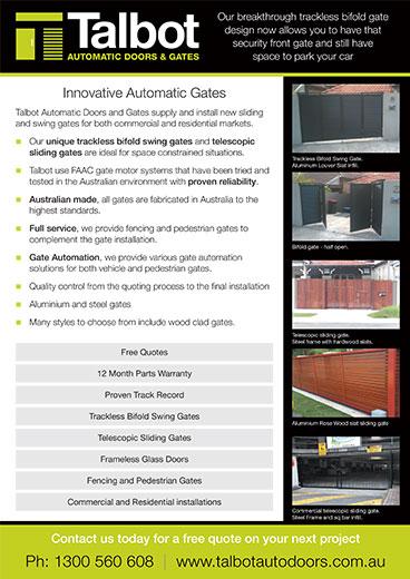 Talbot Automatic Doors Gates