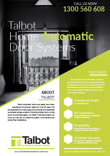 Talbot Home Automatic Door Systems