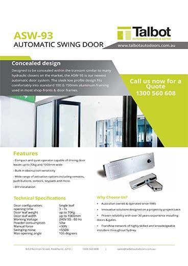 As 93 Swing Door System