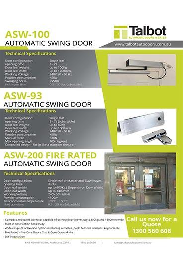 Automatic Doors Brochure